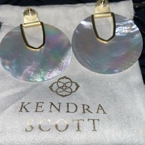 Kendra Scott Diana white mother of pearl & gold
